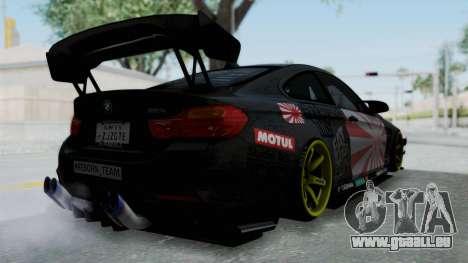 BMW M4 Kurumi Itasha pour GTA San Andreas vue de droite