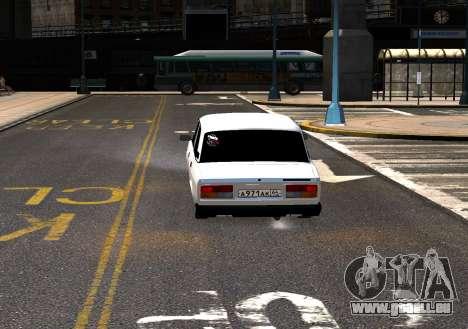 VAZ 2107 AzElow für GTA 4 Rückansicht