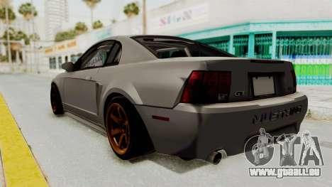 Ford Mustang 1999 Drift pour GTA San Andreas sur la vue arrière gauche