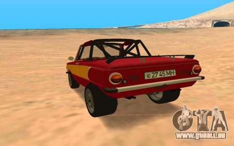 ЗАЗ-968 Offroad-Stil für GTA San Andreas zurück linke Ansicht