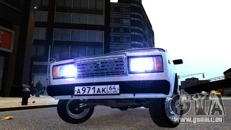 VAZ 2107 AzElow für GTA 4 hinten links Ansicht