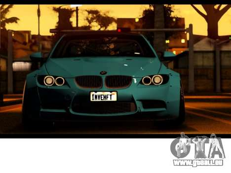 BMW M3 E92 Liberté à Pied LB Performance pour GTA San Andreas vue de droite