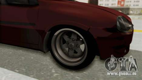 Chevrolet Corsa Hatchback Tuning v1 pour GTA San Andreas vue arrière