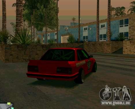 BMW E30 Drift pour GTA San Andreas sur la vue arrière gauche