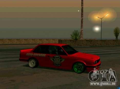 BMW E30 Drift für GTA San Andreas linke Ansicht