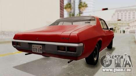Holden Monaro GTS 1971 SA Plate HQLM pour GTA San Andreas laissé vue