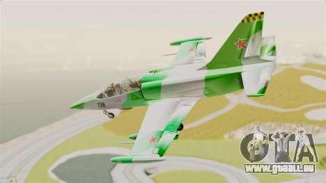 LCA L-39 Albatros pour GTA San Andreas sur la vue arrière gauche