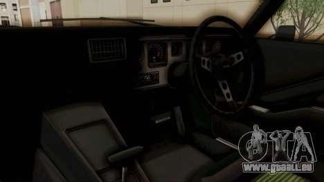 Holden Monaro GTS 1971 SA Plate HQLM pour GTA San Andreas vue arrière