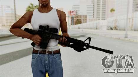 M16 Sniper pour GTA San Andreas troisième écran