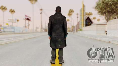 Watchdogs Aiden Pierce DedSec Outfit für GTA San Andreas dritten Screenshot