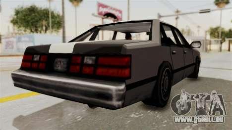 Stanier Turbo pour GTA San Andreas vue de droite