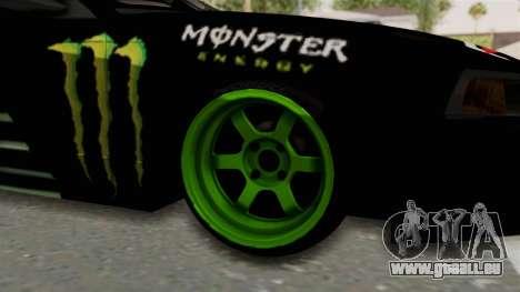 Ford Mustang 1999 Drift Monster Energy Falken pour GTA San Andreas vue arrière