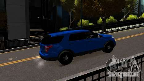 Ford Explorer 2013 pour GTA 4 Vue arrière