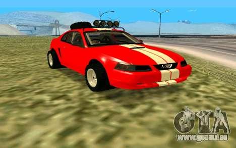 Ford Mustang 1999 für GTA San Andreas rechten Ansicht