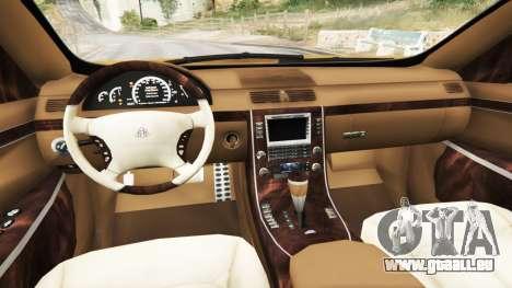 GTA 5 Maybach 62 S arrière droit vue de côté