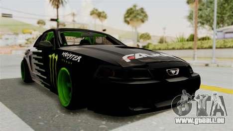 Ford Mustang 1999 Drift Monster Energy Falken pour GTA San Andreas vue de droite