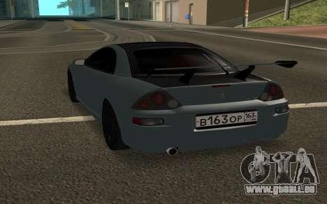 Mitsubishi Eclipse GTS pour GTA San Andreas sur la vue arrière gauche