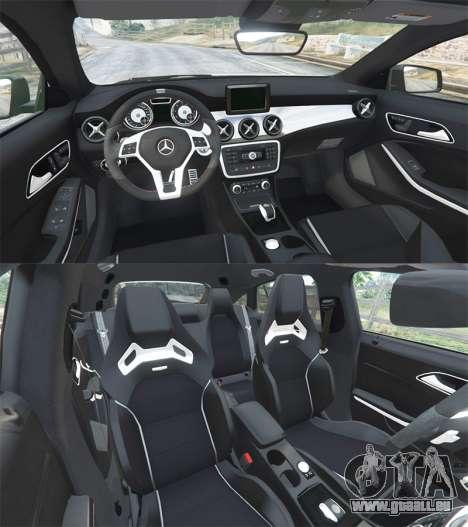 GTA 5 Mercedes-Benz CLA 45 AMG [HSR Wheels] arrière droit vue de côté