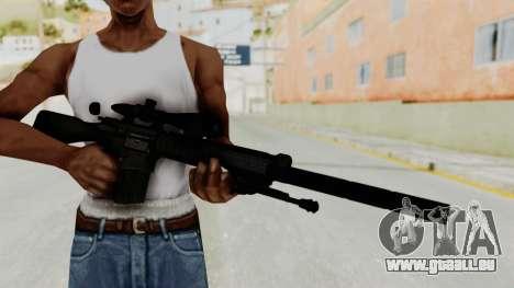 SR-25 pour GTA San Andreas troisième écran