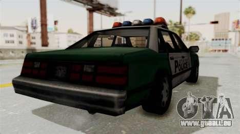 GTA VC Police Car pour GTA San Andreas laissé vue