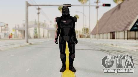 Mass Effect 2 Shepard Default N7 Armor Helmet für GTA San Andreas zweiten Screenshot