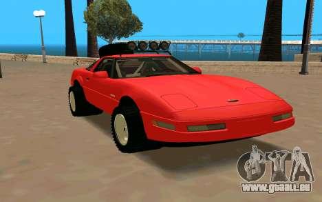 Chevrolet Corvette C4 pour GTA San Andreas vue de droite