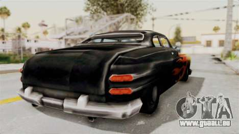 Beta VC Cuban Hermes pour GTA San Andreas sur la vue arrière gauche