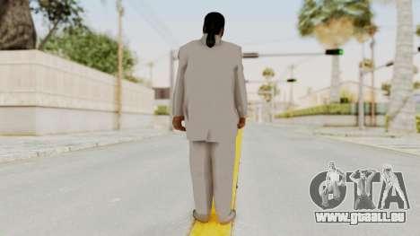 Taher Shah White Suit pour GTA San Andreas troisième écran