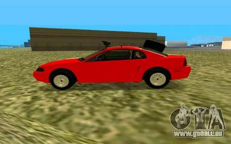 Ford Mustang 1999 für GTA San Andreas zurück linke Ansicht
