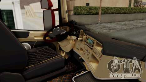 Scania R730 pour GTA San Andreas vue intérieure