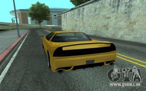 BlueRay's V9 Infernus pour GTA San Andreas sur la vue arrière gauche
