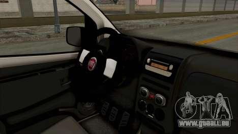 Fiat Fiorino 2014 pour GTA San Andreas vue intérieure