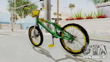 Bully SE - BMX pour GTA San Andreas sur la vue arrière gauche