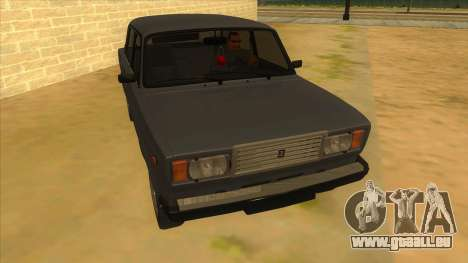 VAZ 2107 RUSSLAND für GTA San Andreas Rückansicht