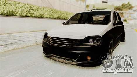 Dacia Logan Facelift Stance für GTA San Andreas rechten Ansicht