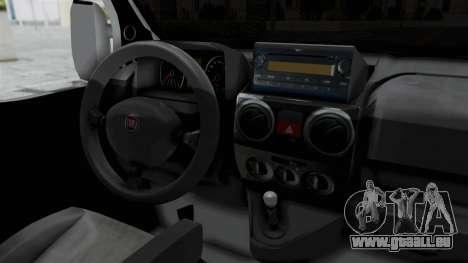 Fiat Doblo für GTA San Andreas Innenansicht