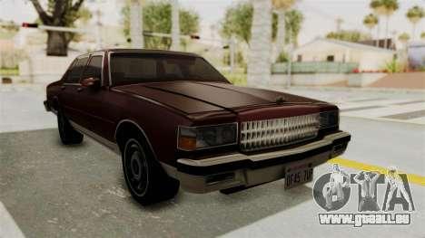 Chevrolet Caprice 1987 v1.0 pour GTA San Andreas vue de droite