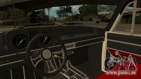 AZLK 412 pour GTA San Andreas vue arrière