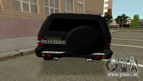 Mitsubishi Pajero v8 turbo für GTA San Andreas rechten Ansicht