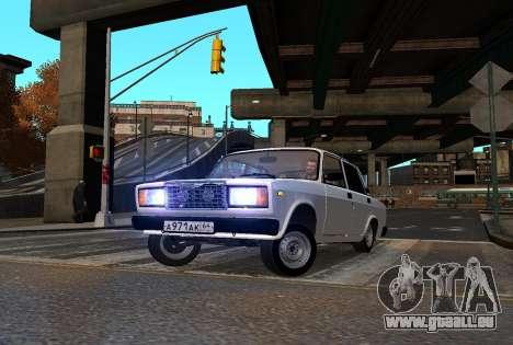 VAZ 2107 AzElow für GTA 4 Innenansicht