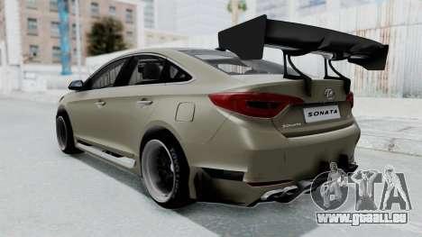 Hyundai Sonata LF 2.0T 2015 v1.0 Rocket Bunny pour GTA San Andreas laissé vue