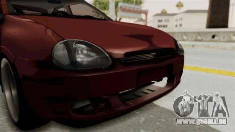 Chevrolet Corsa Hatchback Tuning v1 pour GTA San Andreas vue de côté
