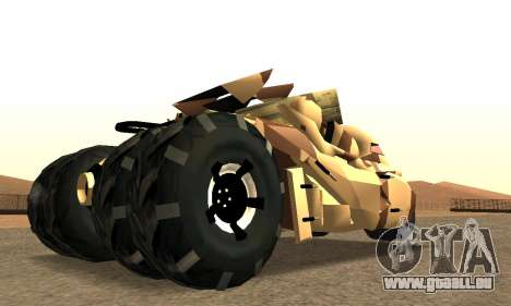 Army Tumbler Rocket Launcher from TDKR für GTA San Andreas linke Ansicht