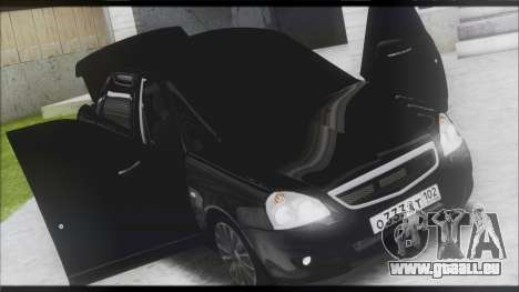 Lada Priora Sedan pour GTA San Andreas vue arrière