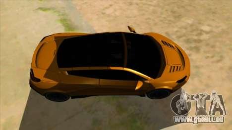 Savage Rivale pour GTA San Andreas vue intérieure