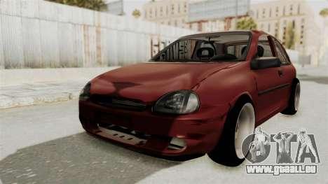 Chevrolet Corsa Hatchback Tuning v1 pour GTA San Andreas sur la vue arrière gauche