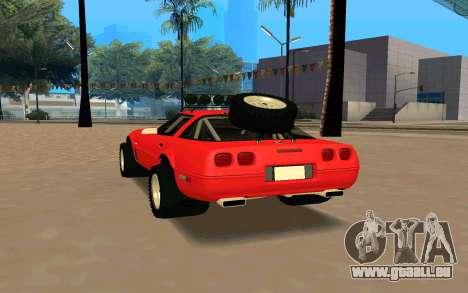 Chevrolet Corvette C4 pour GTA San Andreas sur la vue arrière gauche