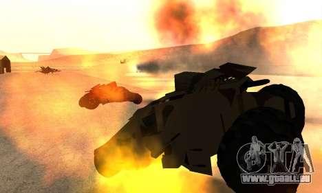 Army Tumbler Rocket Launcher from TDKR für GTA San Andreas Seitenansicht