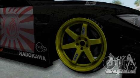 BMW M4 Kurumi Itasha für GTA San Andreas Rückansicht