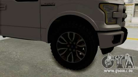 Ford Lobo XLT 2015 Single Cab pour GTA San Andreas vue arrière